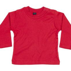 T-shirt bébé rouge à manches longues