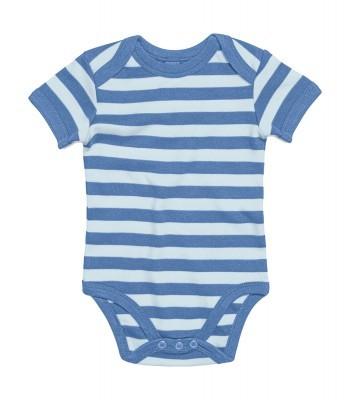 body bébé à rayures