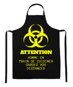 Tablier Danger Homme qui cuisine