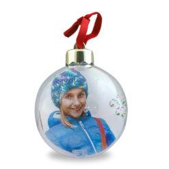 Boule de Noël photo personnalisée