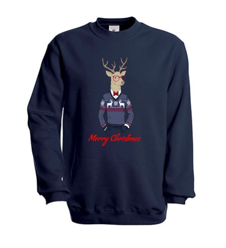 "Sweat homme Hipster ""Merry Christmas"""